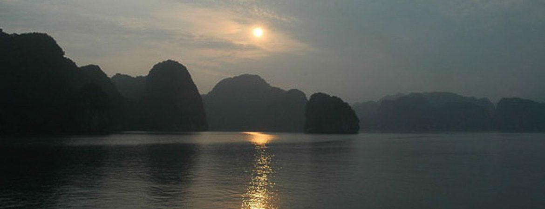Coucher de soleil, Baie de Halong