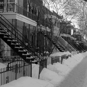 Rue de Montréal en hiver