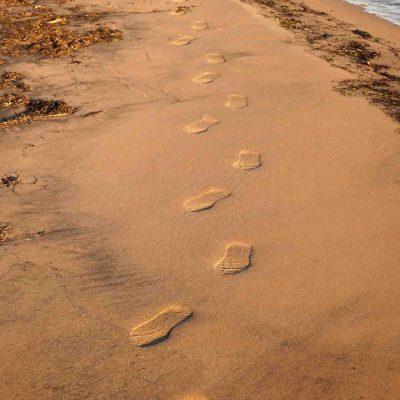 3. Petit pas par petit pas, une invite à l'espérance... Des petits pas qui mènent à l'infini, qui nous arrivent aussi de l'infini